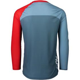 POC MTB Pure Longsleeve Jersey Heren, calcite blue/prismane red